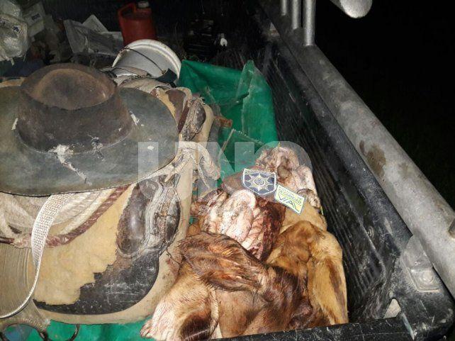 El Rabón: cayeron presos después robar y faenar clandestinamente un novillo