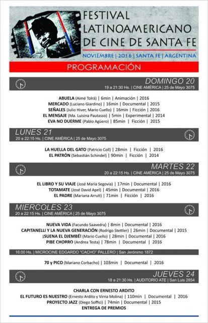 Comenzó el Festival de Cine Latinoamericano de Santa Fe
