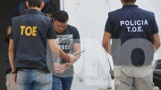 Carlos Baldomir quedó alojado en una dependencia policial de la ciudad