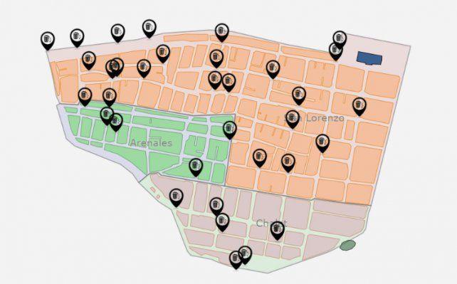 Radiografía. Este grupo de profesionales comenzó con estos tres barrios y la intención ahora es sumar uno más: Centenario.