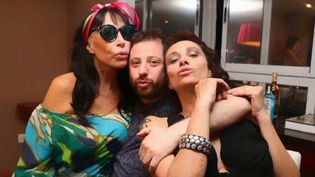 Moria Casán, Erica García y Jose Ottavis, de fiesta