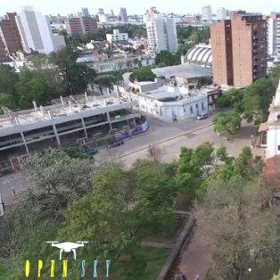 un paseo en drone por lugares historicos de la ciudad de santa fe