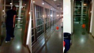 Un globo que se mueve solo atemoriza a todos en un hospital santafesino