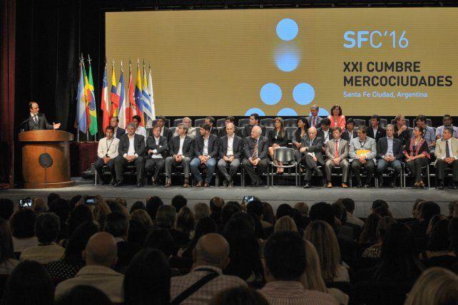 Corral inauguró la XXI Cumbre de Mercociudades