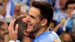 Del Potro le regaló a Maradona la raqueta con la que derrotó a Cilic