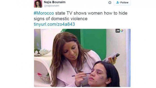 La televisión estatal de Marruecos muestra a mujeres cómo esconder los signos de violencia