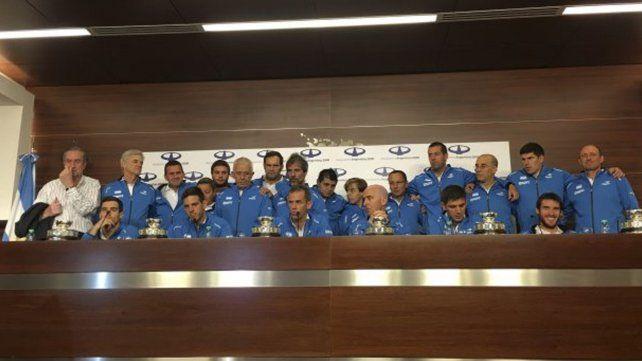 El plantel de la Copa Davis ya está en Argentina