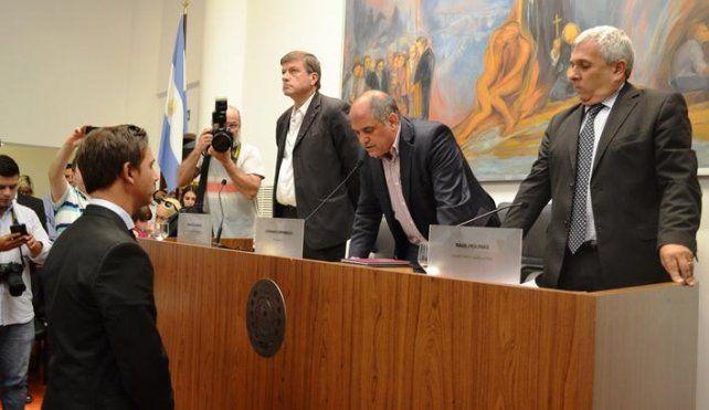 Asunción y despedida. Pignata juró como presidente