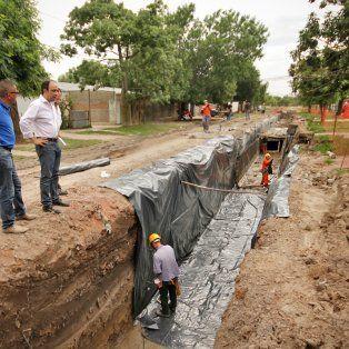 plan norte: avanzan las obras de desagües en barrio yapeyu