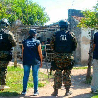 El sábado. TOE y agentes antinarcóticos hicieron el allanamiento.