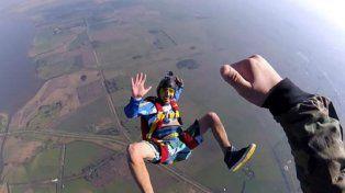 tragica muerte de un paracaidista en chascomus
