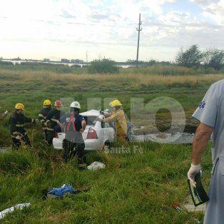 venado tuerto: murio un automovilista en un triple choque entre un camion y dos autos