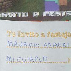 El presidente le respondió al nene santafesino que lo invitó a su cumpleaños