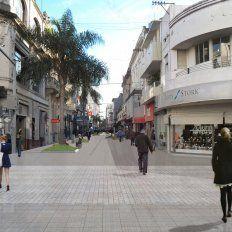 Proyectan finalizar la remodelación completa de la Peatonal San Martín