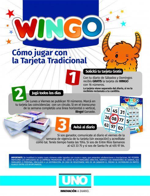 Mirá las instrucciones de Wingo y enterate cómo podes participar