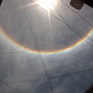 un fenomeno extrano alrededor del sol que sorprendio a los santafesinos