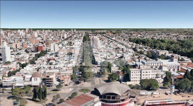 Vista aérea. En el centro de la imagen