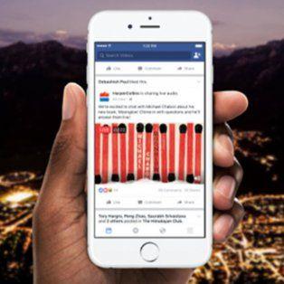 facebook lanza nueva funcion para emitir audio en vivo