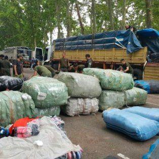 santa fe: gendarmeria secuestro mercaderia de procedencia ilegal valuada en $20 millones