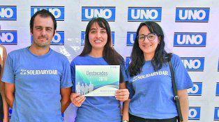 Solidarydar. Al encuentro asistieron Mauro Martínez, Brenda Fragulia y Sabrina Viñuela Chiani, en representación de la ONG.