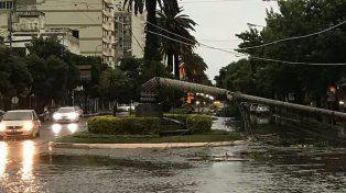Rafaela sufrió este domingo el peor temporal de los últimos 40 años