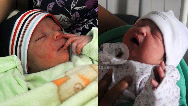 Benjamín y Daniela disputaron el título de primer bebé del año