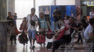 Los primeros. A pesar de ser 1 de enero, la terminal registró un intenso movimiento desde la madrugada.