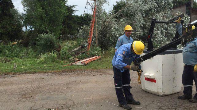 Desde la EPE lanzaron un plan de contingencia para las localidades afectadas por el temporal