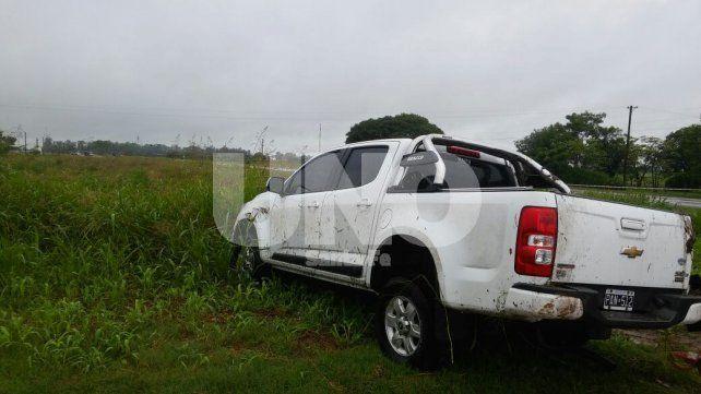 Murió un hombre en Arrufó tras volcar con su camioneta