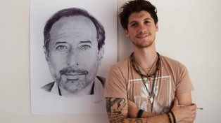 Hizo un dibujo de Guillermo Francella, con birome y se volvió viral
