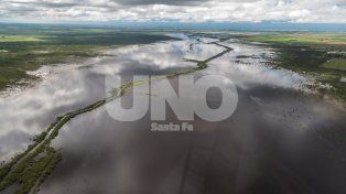 Desde el aire: el departamento Castellanos, el más afectado con 150 mil hectáreas anegadas