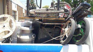 La policía rescató los elementos robados por la pareja de novios en El Trébol y que llevaron hasta Sastre.