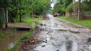 El agua finalmente escurrió en Callejón Vergara y Ruta Provincial Nº 1.