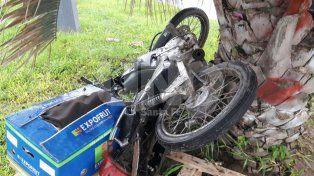 Murió un motociclista en un accidente fatal frente al Cementerio