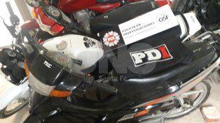 Detuvieron a tres personas que se dedicaban a robar motos en Santa Fe