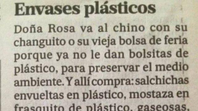 Doña Rosa va al chino, la carta que hace furor en las redes sociales