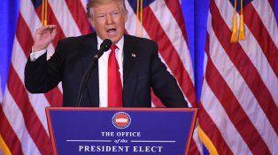 Primera conferencia de Trump: Vamos a construir un muro y México nos va a devolver el dinero