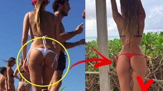 Se filtraron fotos de la verdadera cola de Pampita, sin retoques ni maquillaje