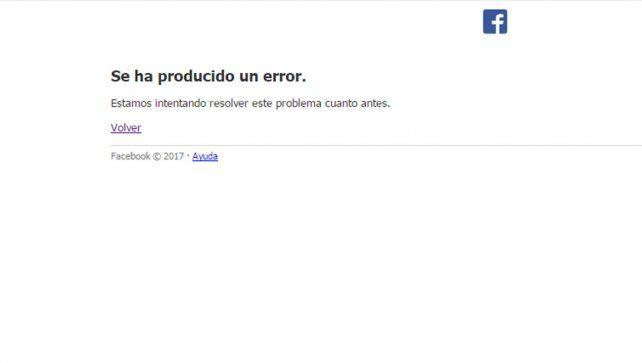 Facebook dejó de funcionar en varios países