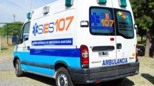 Atención restringida en el servicio de ambulancias del 107 por un reclamo de Amra