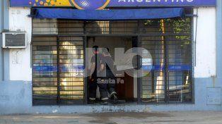 Se incendió una sucursal del Correo Argentino