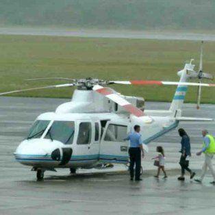 polemica porque macri envio el helicoptero presidencial para traer a su familia de uruguay