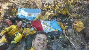 Arduo trabajo de los Bomberos santafesinos en Chile combatiendo incendios en lugares de difícil acceso