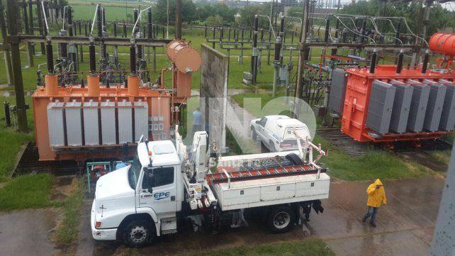 Esperanza: a partir de esta tarde se rehabilitará la planta transformadora de energía eléctrica