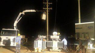 la epe restablece el servicio electrico en gran parte de esperanza