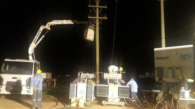 La EPE restablece el servicio eléctrico en gran parte de Esperanza