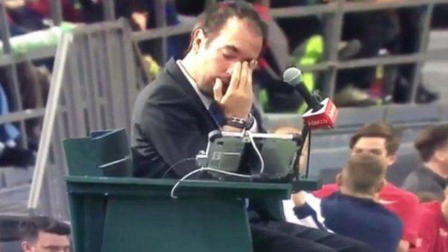 Fue descalificado de la Copa Davis por tirarle un pelotazo al juez de silla