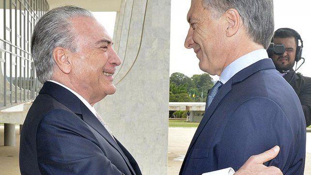 Macri y Temer se reunieron en Brasil con el Mercosur como tema central