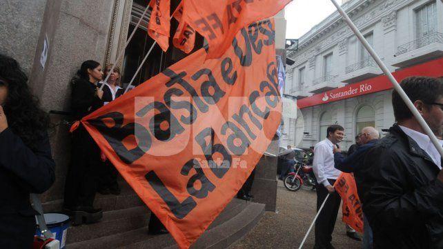 La Bancaria define su metodología de protesta para jueves y viernes