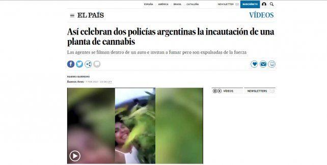 El escándalo de las policías con la planta de marihuana llegó a España